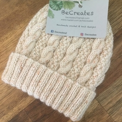 Natural beanie for little 'Boo'