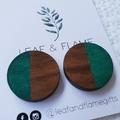Wooden deer earrings
