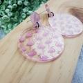 Pink Flamingo -  Dangle Earrings - Acrylic - Tropical