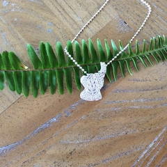 Recycled 99.9% Silver elephant pendant with Sterling silver chain