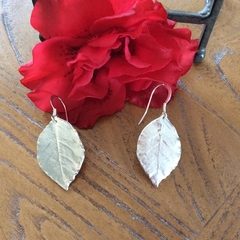 Recycled 99.9% Silver Rose Leaf earrings