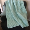 CHUNKY SHELL STITCH BLANKET - TEAL