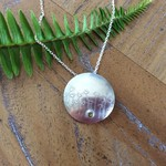 Recycled 99.9%  Silver  Dandelion Pendant on Sterling Silver chain
