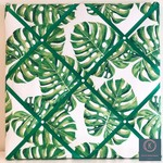 40cm x 40cm Green Tropical Leaf Memory Board