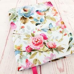 Watercolour Birds Journal Cover / Birdlife A5 Reusable Notebook Diary Cover