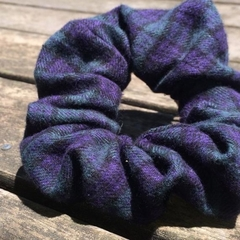 *Upcycled Blue Tartan Scrunchie