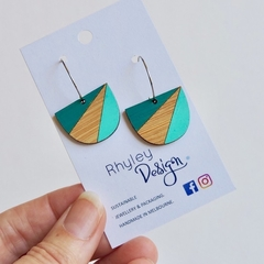 Stylish & Sustainable 2tone Wooden Earrings
