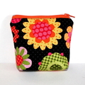 Pouch with flat bottom in Gorgeous Floral Fabric