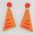 Hand Painted Rusty Angle Yellow Earrings