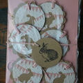 6 Kraft Bunny Rabbit Gift Tags Easter Tags Baby Shower Tags Easter Gift Tags