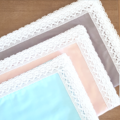 Organic cotton vintage lace baby blanket