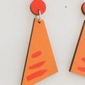 Hand Painted Rusty Angle Yellow Earrings