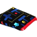 Pouch with flat bottom in Pacman Fabric