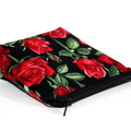 Pouch with flat bottom in Beautiful Red Rose Fabric