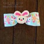 Easter Bunny small Hair clip, handmade, FREE SHIPPING