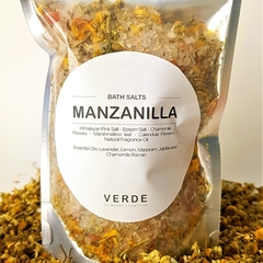 Manzanilla (Chamomile) Bath salts, relaxing and sleep assistant