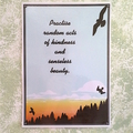 'Practise Random Acts of Kindness...' Laminated Mini Poster