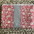 Pink Liberty flowers purse