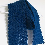 Simple Texture Scarf in Midnight Blue