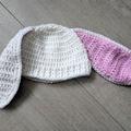 Crochet Newborn Bunny Hat / Photo Prop