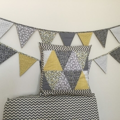 'WILD ONE'  Cushion cover & Fitted Sheet (cot) set