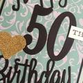 Happy 50th Birthday Handmade Card - FREE POST
