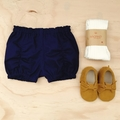Ruched Shorties - Bloomers - Cotton - Girls Shorts - Size 000-2