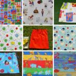 Kids large library bag, 8 fabrics, kids large kindy sheet bag or toy bag