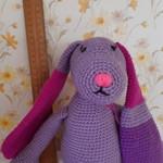 Beautiful pink & purple bunny.