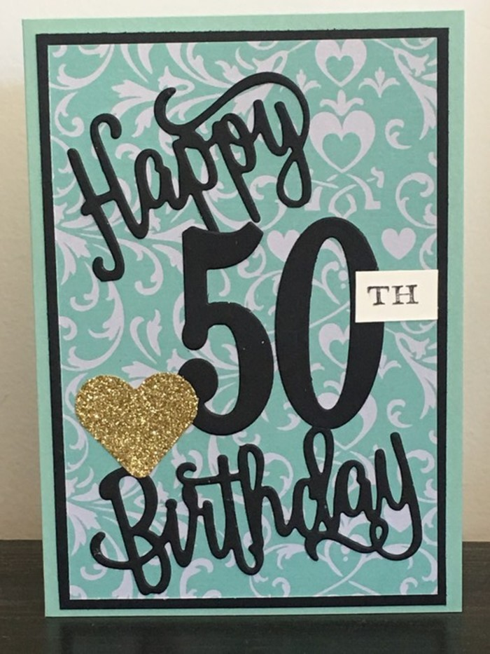 Happy 50th Birthday Handmade Card