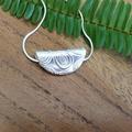 Recycled 99.9% Silver semi-circular Pendant