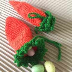Carrot Pouch, Easter Gift Bag - Small