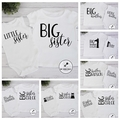 10 designs. Baby & Sibling t-shirts/ bodysuits sets.  Sister Brother Big Little