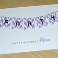 Female Happy Birthday card  - age - 40th 50th 60th - different colours!