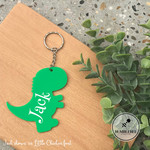 Green Dinosaur Bag Tag