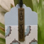 5 x Hand-Stamped Brass Gift Tags - To You