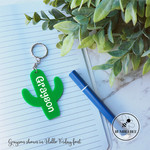Green Cactus Bag Tag 