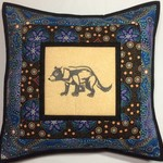 Australiana cushion cover -Tasmanian Devil