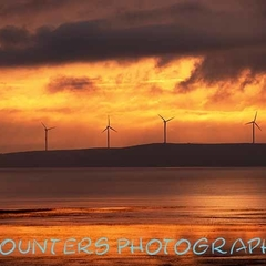 Turbines in Sunrise and Storm Over Lake George, NSW  (A2)