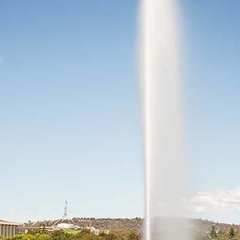 Captain Cook Memorial Fountain, Canberra (A2)