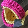 Set of 2 Baskets with carry handles-Candy Pink and Yellow