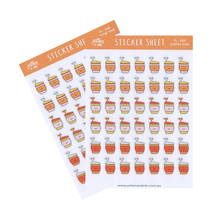 COFFEE TIME PLANNER STICKERS