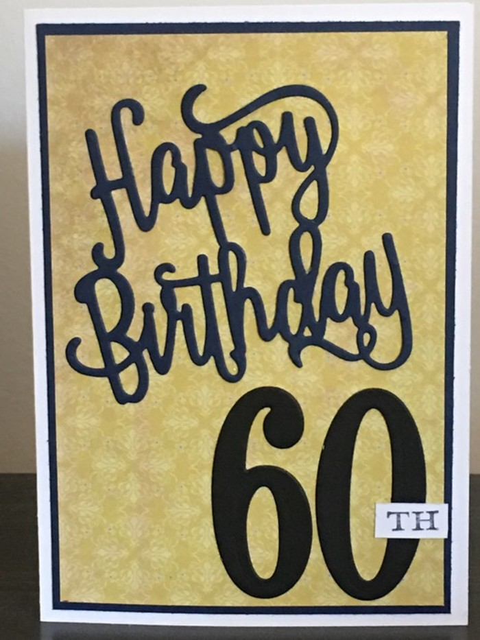Happy 60th Birthday Handmade Card