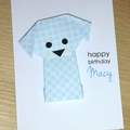 Boys or Girls Birthday card - puppy dog -personalised