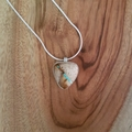 Royston Ribbon Turquiose  sterling silver pendant, necklace, unisex