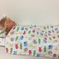 DOlls sheet set with Matching pillow