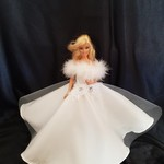 Glamorous white winter gown and shoes included
