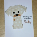 Boys or Girls Birthday card - puppy dog -personalised with a name