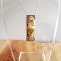 Sandstone Jasper sterling silver pendant, necklace, unisex