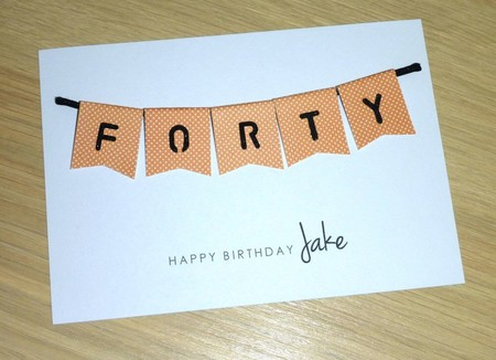 Male Happy Birthday card  - age - 40th 50th 60th - 4 styles
